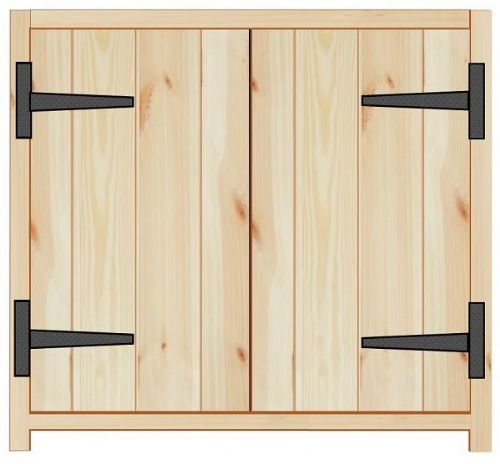 Rustic Farmhouse 800mm Base Cabinet with 2 doors